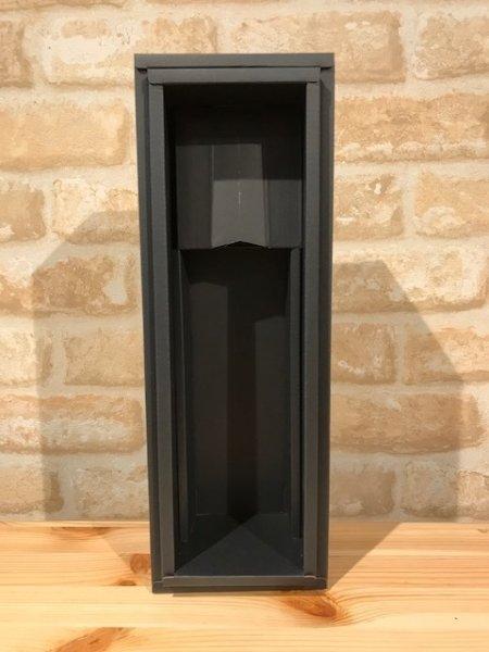 画像1: ギフトBOX ワイン用 1本入 黒 (1)